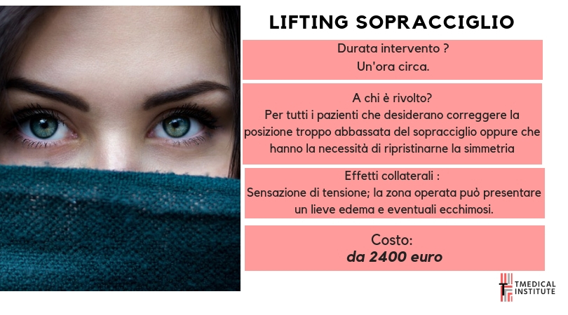 LIFTING DEL SOPRACCIGLIO TMEDICAL INSTITUTE